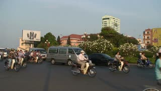 Bike And Car Traffic In Vietnam