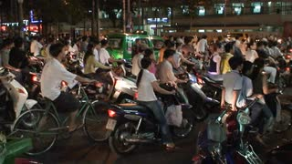 Bike Traffic In Vietnam