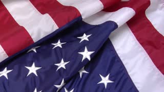 Bills Falling on American Flag Slow Motion 2