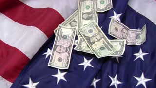 Bills on Top of American Flag 7
