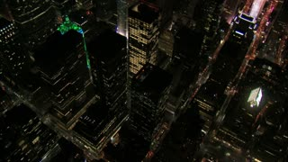 Birds Eye View of Colorful NYC Buildings 2