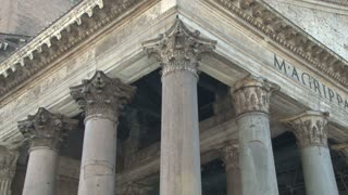 Birds Resting on a Pantheon Column