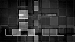 black and white squares abstract loopable background