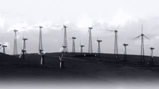 Black and White Windmills