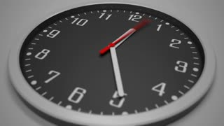 Black clock dial shallow focus time lapse (hyperlapse). 4K footage. Awaiting concept