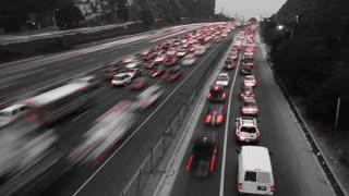 Black & White Traffic Time Lapse