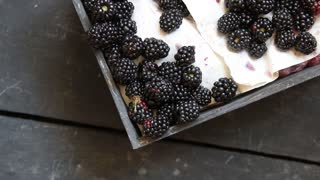 Blackberries on the table, healthy food idea