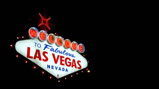 Blinking Las Vegas Welcome Sign