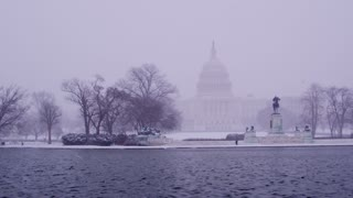 Blizzard Haze Around US Capitol Building