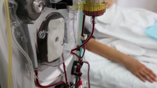 Blood purification procedure with patient