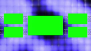 Blue Abstract Blocks Green Screen