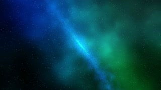 Blue and Green Starry Sky in the Galaxy