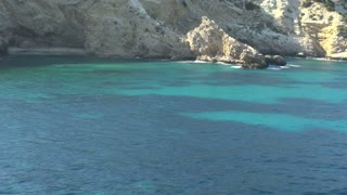 Blue and Green Water in Lagoon