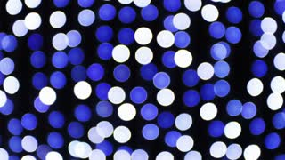 Blue And White Disco Lights