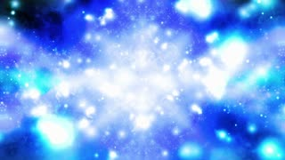 Blue and white particle vortex