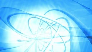 Blue Atom Nucleus