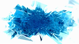 Blue chromatic ice cube plasma spray with matte