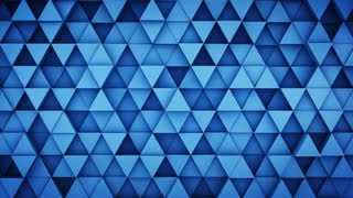 Blue extruded triangles hipster background 3D render loopable 4k UHD (3840x2160)