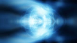 Blue gas undulates (Video Loop).