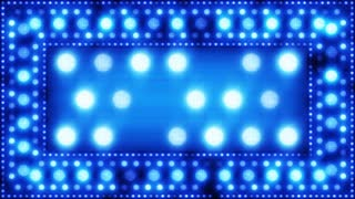 blue glittering light bulbs loopable background