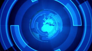 Blue Globe Motion Graphic