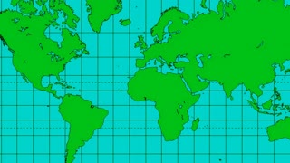 Blue Green World Map