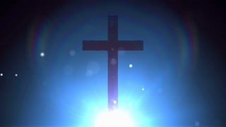 Blue Light Particle Cross