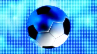 Blue Light Soccer Ball