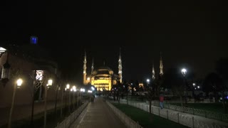 Blue Mosque Glowing at Night