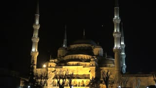 Blue Mosque Lit at Night