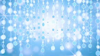 blue shining hanging circles loop background