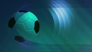 Blue Soccer Banner