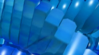 Blue spiral escalator electric