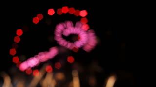 Blurred Fireworks Explosion