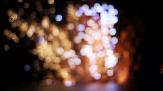 Blurry Firework Explosion