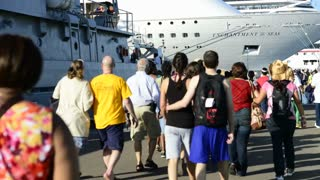 Boarding Bahamas Cruise Ship