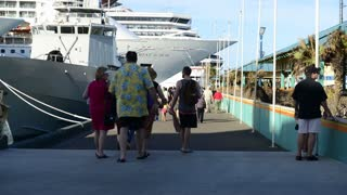 Boarding Cruise Ship Passengers