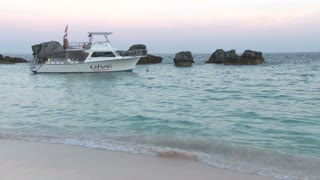 Boat Anchored Near Bermuda Beach