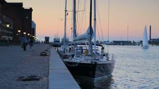 Boat Harbor at Sunset in Copenhagen