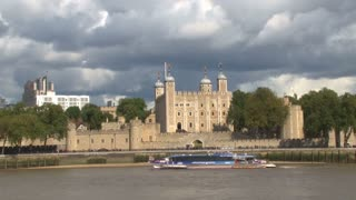 Boat Passing The Tower Of London