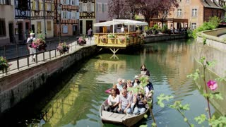 Boat Tour on Canal in Colmar, France