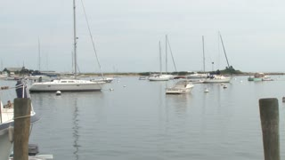 Boats Anchored in Small Harbor 1