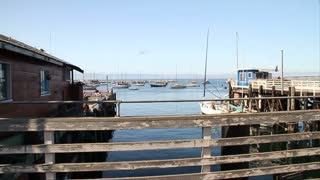 Boats And Pier On Fisherman's Wharf In Monterey California