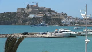 Boats Cruising Throughout Harbor in Spain 2