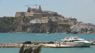 Boats Cruising Throughout Harbor in Spain 4