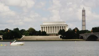 Boats Docked Outside Lincoln Memorial