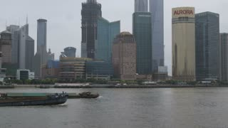 Boats Floating by in Shanghai China 4