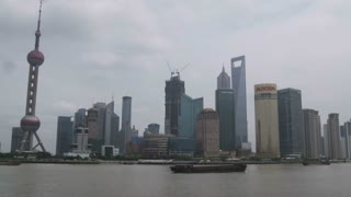 Boats Floating by in Shanghai China