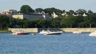 Boats Grouped In Potomac River
