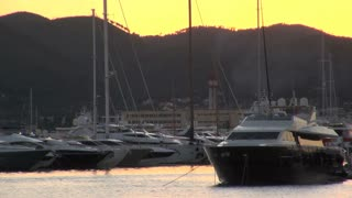 Boats in Harbor at Dusk in Spain 3